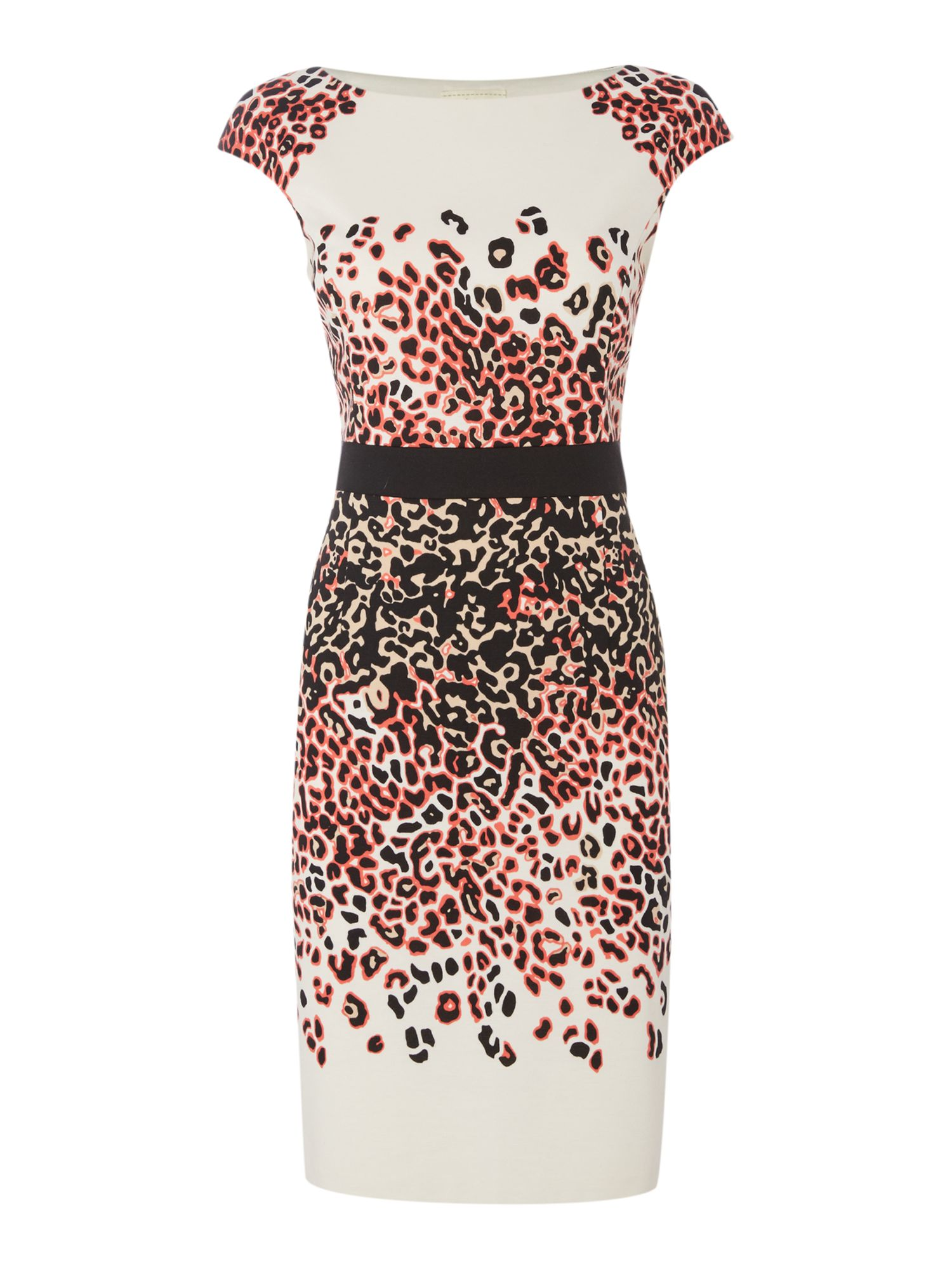 Linea Hannah animal ponte dress, Coral
