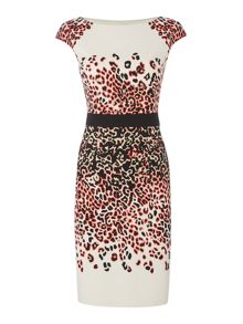 Linea Hannah animal ponte dress