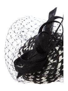 Julia monochrome woven pillbox