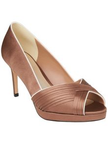 Kate pleated peep toe shoes