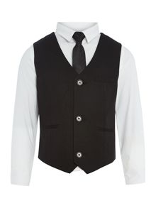 Howick Junior Boys shirt, waistcoat and tie set