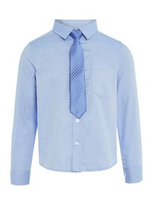 Boys long sleevedd shirt with tie