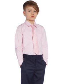 Boys long sleeved shirt with tie