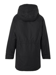 Boys parka style fleece and quilt lined coat