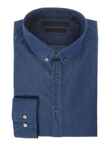 Anderson Washed Denim Button Down Shirt