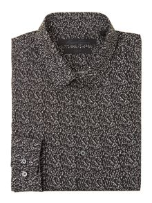 Kenneth Cole Maverick Scratch Print Shirt