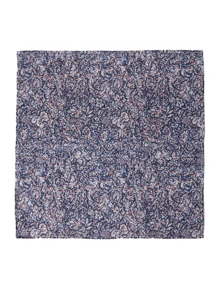 Kenneth Cole Harley Static Print Cotton Pocket Square