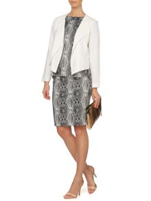 Gina Snake Jacquard Waterfall Jacket