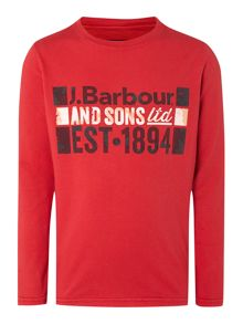 Boys long sleeved T-shirt with chest print
