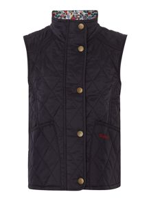 Girls diamond quilted gilet