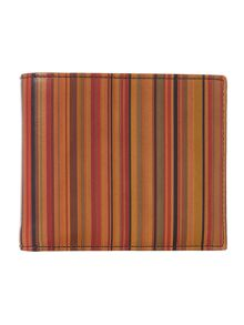Vintage multistripe coin pocket wallet