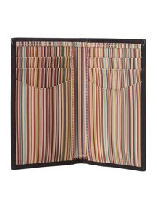 Vintage multistripe card holder