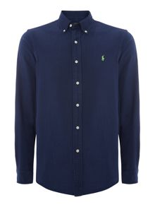 Plain Slim Fit Oxford Shirt
