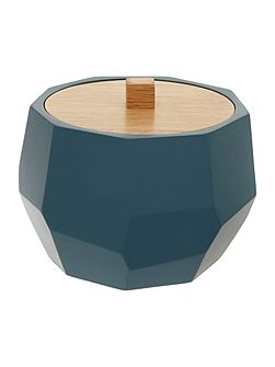 Faceted Cotton Jar in Teal
