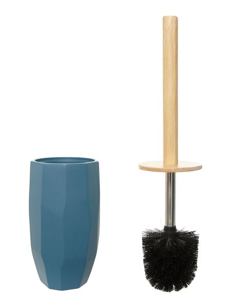 Living by Christiane Lemieux Faceted Toilet Brush in Teal