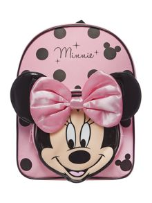 Girls Minnie Mouse bow rucksack