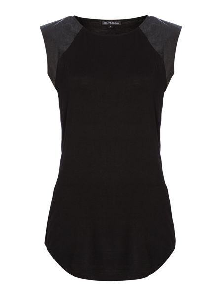 Rock and Religion Short Sleeved top with cap shoulders
