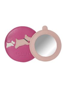 Doodle dog light pink pink small zip coin purse