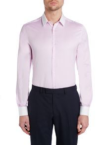 Benedict white collar and cuff shirt