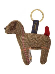 Tweed dog keyring