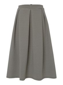 Stripe ribbed full skirt