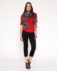 Rosy Embroidered Scarf