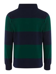 Boys heavy weight stripe rugby top