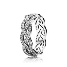 Sparkling Silver Braid Ring