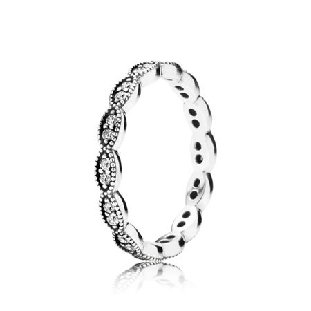 Pandora Band of Shimmering Leaves Ring