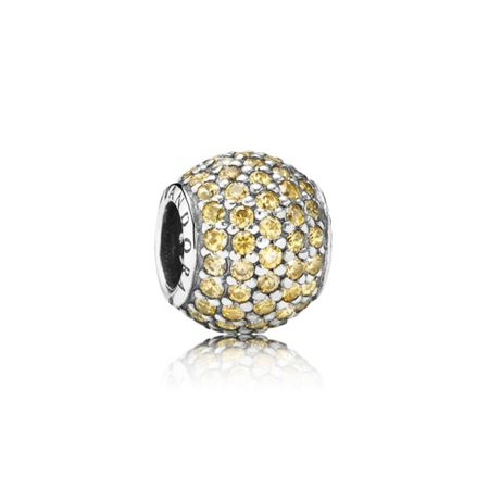 Pandora Golden Pavé Ball Charm