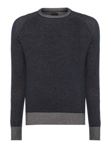 Hampton long sleeve raglan crew neck knit