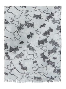 Cherry blossom dog viscose long scarf