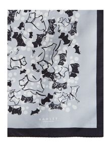Cherry blossom dog silk square scarf