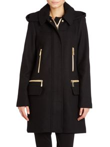 Wool Coat with zip pocket