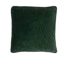 Quilt Ring Cotton Cushion Cover in Greener