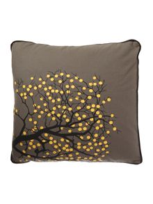 Fruit Tree Cotton Cushion Cover in Castlerock