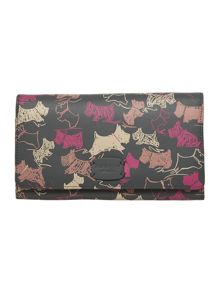 Doodle dog grey large flap over purse