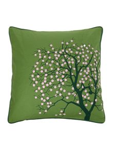 Fruit Tree Cotton Cushion Cover in Treetop