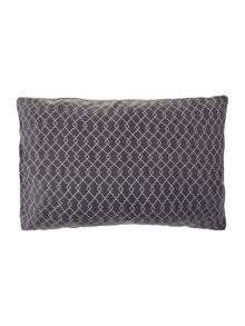 Wave Cotton Cushion Cover in rainy day/Rose Smoke