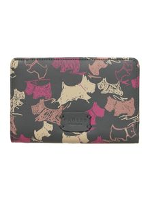 Doodle dog grey medium flap over purse