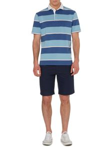 Powell stripe short sleeve rugby