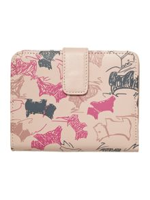 Doodle dog light pink medium flap over purse