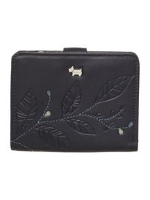 Laurel leaf navy medium flap over purse