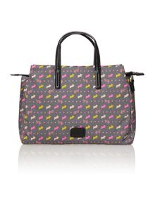 Dog and spot grey medium tote bag