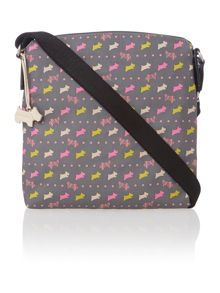 Dog and spot grey medium cross body bag