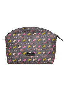 Dog and spot grey medium cosmetic bag