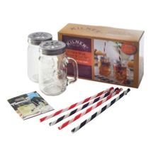 Kilner 9 Piece Mug & Straw Set