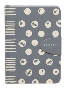 Moon dots grey A6 notebook