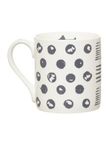 Moon dots single mug