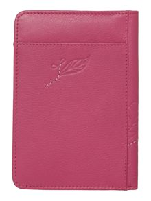 Laurel leaf pink pasport cover